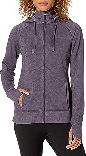 Jockey womens Double Collar Full Zip Hooded Jacket Hooded Sweatshirt