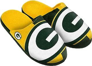 Green Bay Packers Split Color Slide Slipper Large