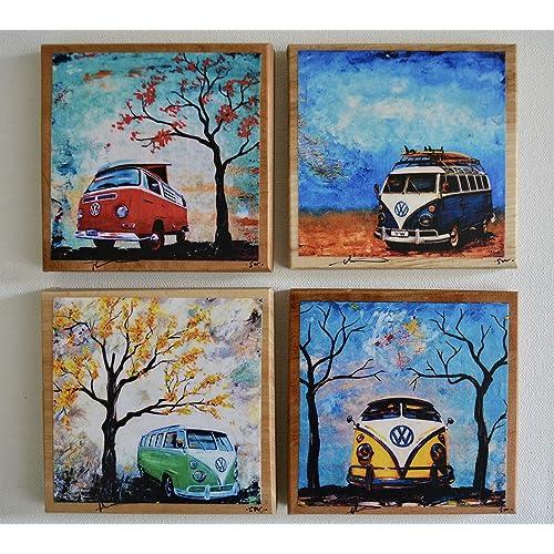 VW Bus art: Amazon com