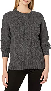Lucky Brand Women's Cable Knit Scoop Neck Sweater