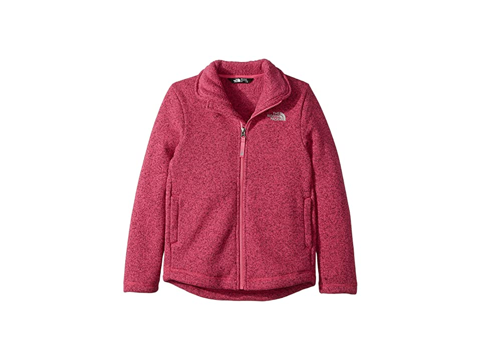 The North Face Kids Crescent Full Zip (Little Kids/Big Kids) (Petticoat Pink Heather (Prior Season)) Girl