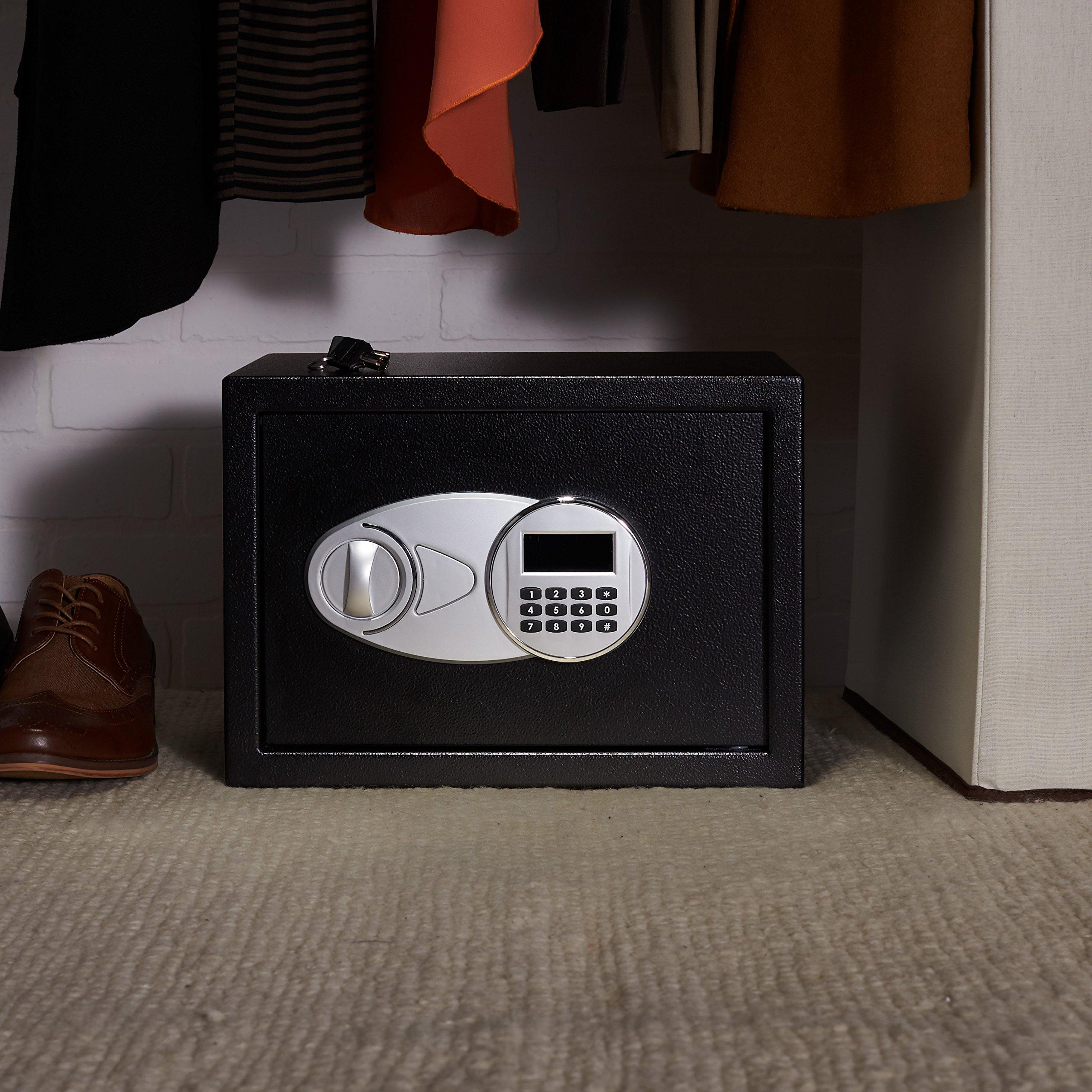 AmazonBasics - Caja fuerte (14L), color negro: Amazon.es ...