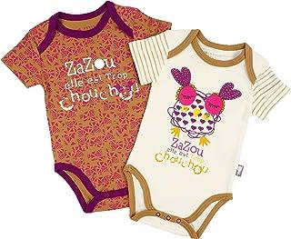 Petit B/éguin 2er-Pack Baby M/ädchen Bodys Kurzarm Ice Cream