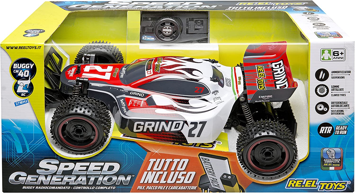 Reel Toys Reeltoys2151 Grind Speed Generation Racing Car Model, Multicolor
