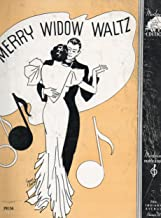 Vintage Piano Solo Sheet Music: THE MERRY WIDOW (WALTZ) (Moderne Edition,, P8156)