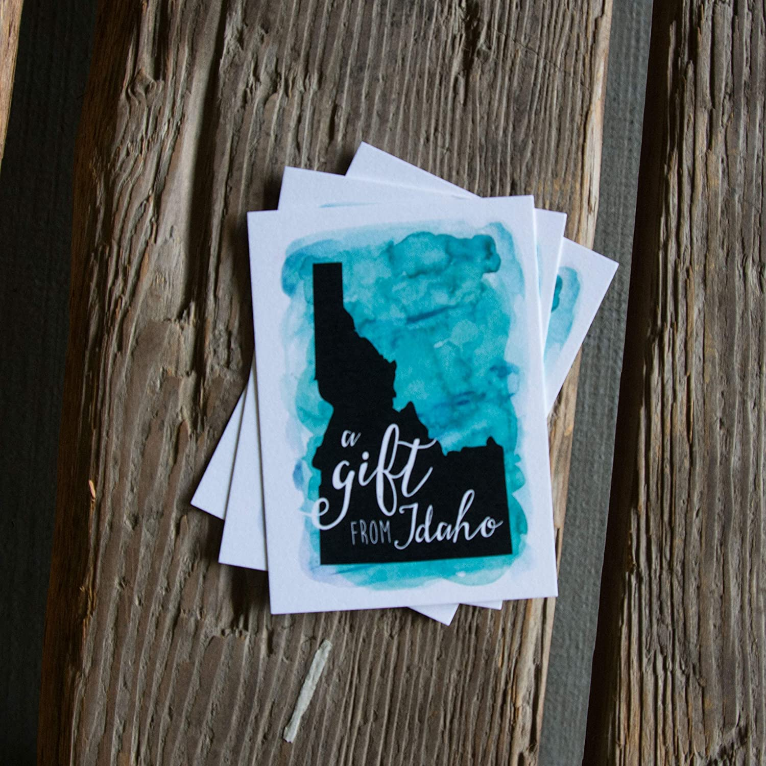 A gift from Idaho tag water pack Ranking TOP3 6 tags color letterpress Free shipping