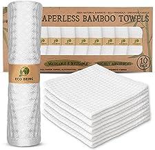 Reusable Paper Towels, Washable Unpaper Towels - Eco Friendly, Sturdy, Super Absorbent, Organic Bamboo Paper Towel Alterna...
