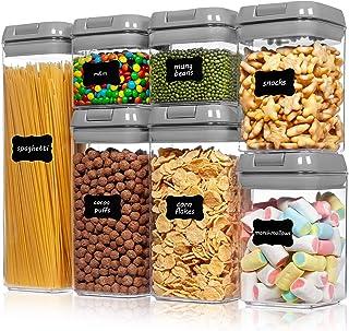 Vtopmart Lot de 7 récipients hermétiques en plastique sans BPA avec couvercles faciles à verrouiller, pour l'organisation ...