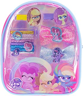 Townley Girl My Little Pony Miniature Hair Accessory backpack, Ages 3+ With 13 Pieces Including Hair Ties, Hair Bows, Hair...
