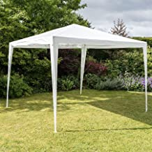 Harbour Housewares 3x3m Garden Gazebo Large Marquee Tent, Waterproof Shelter with Canopy for Outdoor Wedding Garden Party - White