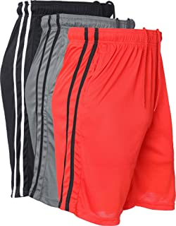 3 Pack Men's Active Shorts Quick-Dry Lightweight Workout Gym Basketball with Pockets