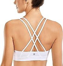 CRZ YOGA Women's Fitness Workout Yoga Bra Strappy Sports Bras