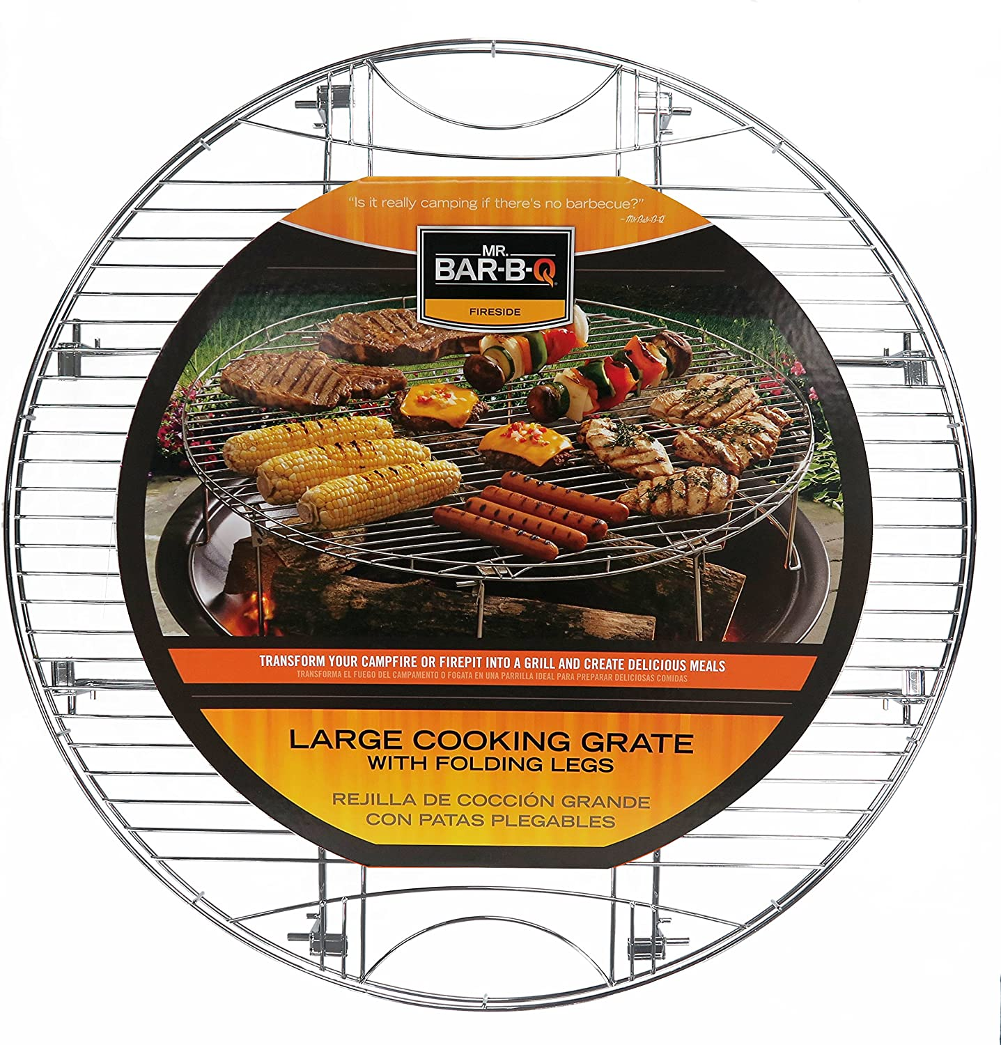Mr. Bar-B-Q 08600YFS Large Round Cooking Grate Legs Store Folding Clearance SALE! Limited time! with