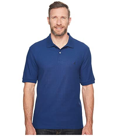 Nautica Big & Tall Big Tall Anchor Solid Deck Shirt (Estate Blue) Men