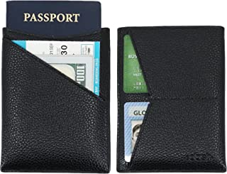 Dash Co. Passport Wallet : Minimalist RFID Sleeve for Travel Stops Electronic Pick Pocketing Works Against Identity Theft & Credit Card Data Breach (Pebble Leather)