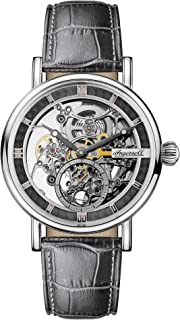 Ingersoll Men's The Herald Automatic Watch with Skeleton Dial and Grey Leather Strap I00402