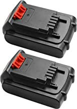 Turpow 2 Pack 2000mAh 20V Li-ion Replacement Battery Compatible with 20-Volt MAX LBXR20 LB20 LBX20 LBXR2020-OPE LBXR20B-2 LB2X4020 Cordless Tool Battery