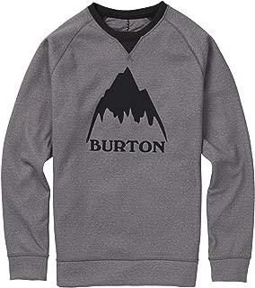 Burton Snowboards Men's Crown Bonded Crew Shirt, Monument Heather, Large