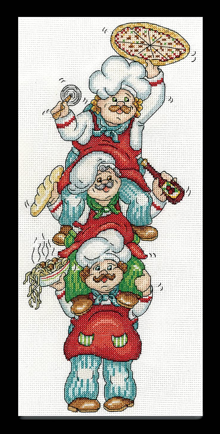 Tobin 2841 14 Count Pizza Delivery Counted Cross Stitch Kit, 6