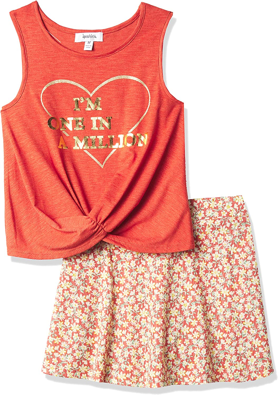 Speechless Girls' Sleeveless Top and Scooter Set: Clothing, Shoes & Jewelry