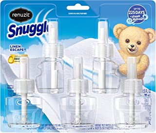 Renuzit Snuggle Scented Oil Refill for Plugin Air Fresheners, Linen Escape, 5 Count
