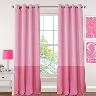 "Elrene Home Fashions 26865901078 Juvenile Teen or Tween Blackout Room Darkening Grommet Window Curtain Drape Panel, 52"" x ..."