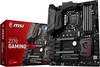 MSI Enthusiastic Gaming Intel Z270 DDR4 VR Ready HDMI USB 3 ATX Motherboard (Z270 GAMING M5)