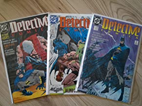 Detective Comics (Batman), Numbers 598, 599, 600 [No., #], Mar Apr May 89 [March, April, 1989, 3-89, 4-89, 5-89]: Blind Justice, Parts 1, 2, 3 of 3 [One, Two, Three, I, II, III]