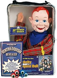 ThrowThings.com Bonus Bundle! Howdy Doody Ventriloquist Dummy Doll PLUS Ventriloquism Revealed Booklet PLUS Two Finger gEyes