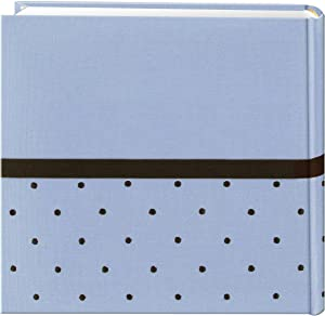 Pioneer Embroidered 200 Pocket Frame Fabric Cover Photo Album, Baby Blue