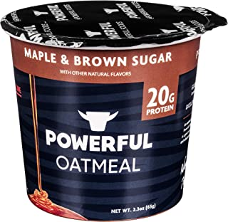 Powerful High-Protein Instant Oatmeal, Natural Ingredients, 20g Protein, Kosher, Maple & Brown Sugar (6 Pack)