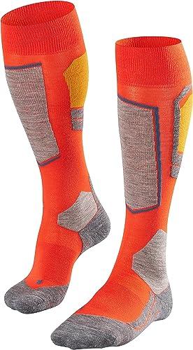 FALKE Men's SK4 Skiing Socks Merino Wool Black More Colours Thin Thermal Padded Long Ski Sock Cushioned Sole Breathab...
