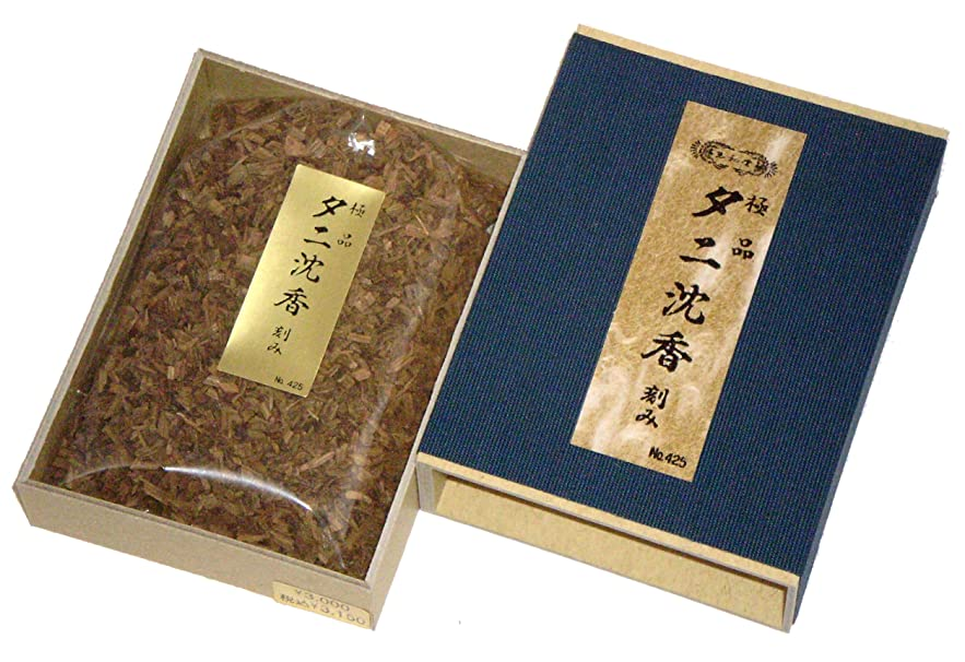 スクラップ一族アスリート玉初堂のお香 極品タニ沈香 刻み 化粧箱(布貼)入 #425