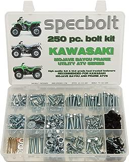 250pc Specbolt Kawasaki Utility ATV Bolt Kit for KLT KSF KLF KEF KVF KSV & KLF models Quad BRUTE FORCE BAYOU LAKOTA SPORT MOJAVE PRARIE ADVANTAGE CLASSIC & V FORCE 220 250 300 360 400 620 650 700