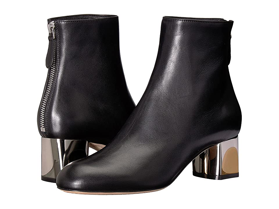 Alexander McQueen Sculpted Heel Ankle Boot (Black) Women
