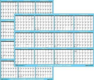 24x36 SwiftGlimpse 2020-2021 Academic Wall Calendar Erasable Large Jumbo Oversized Wet & Dry Erase Laminated 12 Month Plan...
