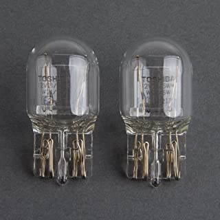 HYUNDAI OEM Toshiba 7443 T20 12V 21/5W Clear Bulb - Quantity=4, Made in Japan
