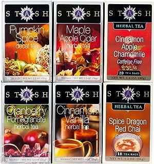 Stash Tea 6-Flavor Assortment Tea, Fall for Autumn, 6 Count