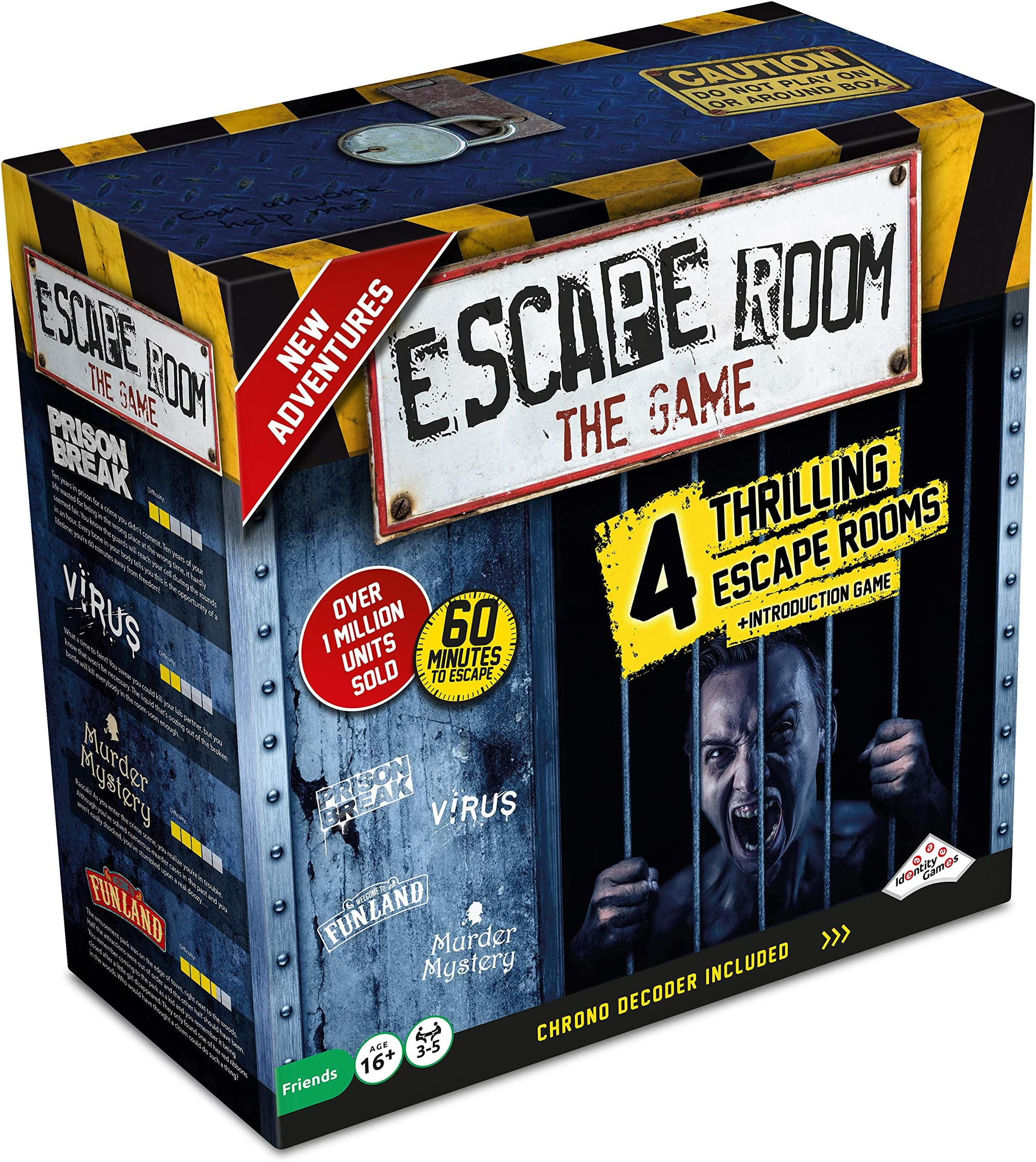 Escape Room The Game, Version 2 - with 4 Thrilling Escape Rooms | Solve The Mystery Board Game for Adults and Teens