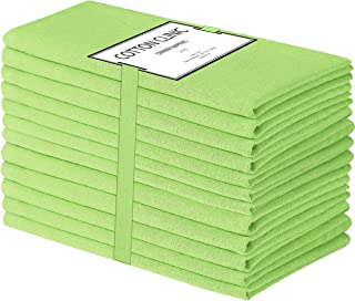 Cotton Clinic Cloth Dinner Napkins 20x20-12 Pack, 100% Cotton Soft and Comfortable Cocktail Napkins, Wedding Dinner Napkins with Mitered Corners and Generous Hem - Lime Green