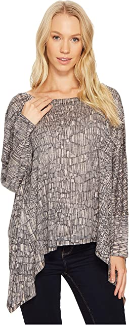 Nally & Millie - Almond Print Slouch Top