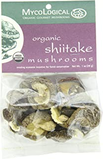 Mycological Dried Organic Shiitake Mushrooms, 1 Ounce Package