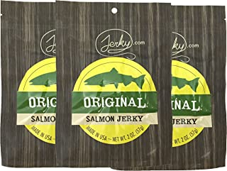 Original All Natural Wild Caught Fresh Salmon Jerky - 3 PACK - The Freshest and Best Salmon Jerky on the Market - No Added Preservatives, No Added Nitrates and No Added MSG - 6 total oz.