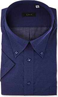 [フレックスジャパン] 大きいサイズ 3L 4L 5L 形態安定 吸水速乾 衿腰中側別生地仕様 半袖 メンズ ワイシャツ DHRX77