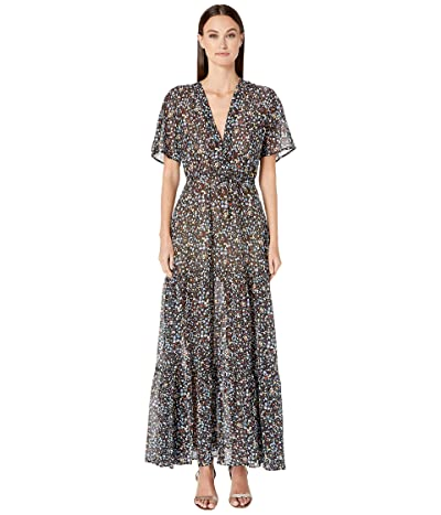 Stella McCartney Pebble Print Long Dress (Black) Women