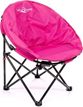 Lucky Bums Moon Camp Kids Indoor Outdoor Comfort Lightweight Durable Chair with Carrying Case, Pink, Small (Renewed)