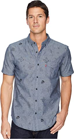 Fiske Printed Chambray Short Sleeve