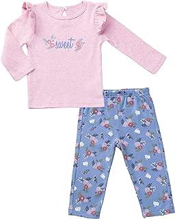 Asher & Olivia Baby Outfits for Girls Long-Sleeve Shirt Leggings Set Ruffle Top