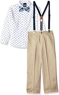 Nautica Boys' Suspender Set With Shirt, Pant, Suspenders, and Bow Tie