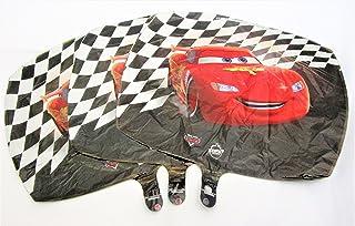 Unbekannt Globo de Cars rojo, negro y blanco brillante, 45 cm, cuadrado, sin relleno, adecuado para gas